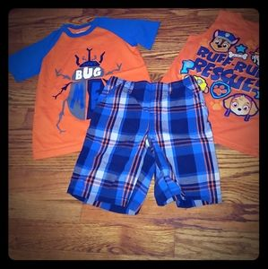 Lot of 2 tops & 2 shorts Size 4 & 5T Priced to GO